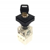 23 x 23mm Square Key Switch 1NO 1NC Maintained 2 Position_OKJSSA14K-11