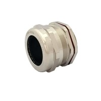M50 Metal Cable Gland with Locknut, IP68 Nickel Plated Brass