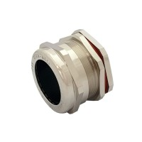M63 Metal Cable Gland with Locknut, IP68 Nickel Plated Brass