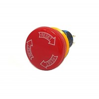 16mm Emergency Stop Button 1NO 1NC Momentary Push-in to Reset