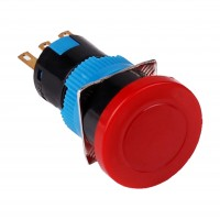 16mm Emergency Stop Button, 1NO1NC Latching
