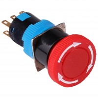 16mm Emergency Stop Button, 1NO1NC