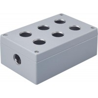 Metal Enclosure, 6 holes