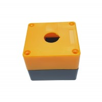 Plastic Pushbutton Enclosure Box 1 hole - 22mm Yellow-Grey