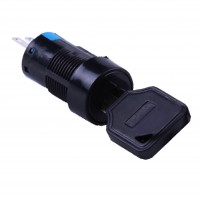 16mm Key Switch, Round, 2NO2NC 3 Position Maintain