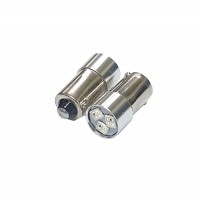 BA9S LED Indicator Bulb RED and GREEN, Multi-chip, 10mm dia 24V ac/dc