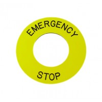 Emergency Stop Legend Plate
