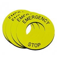 5 pcs Emergency Stop Legend Plate