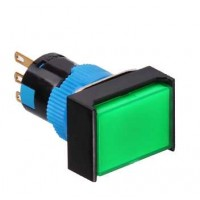 16mm Illuminated Pushbutton, Rectangle, 1NO1NC Latching