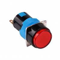 16mm Pushbutton, Round, 1NO1NC Latching