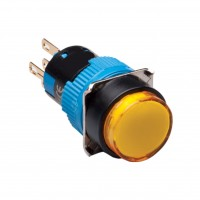 16mm Illuminated Pushbutton, Round, 2NO2NC Latching