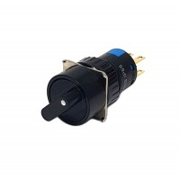 16mm Round Selector Switch 2NO 2NC 2 Position Stay Put 90°