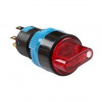 16mm Illuminated Selector Switch, Round, 1NO1NC, 2 Position Maintain