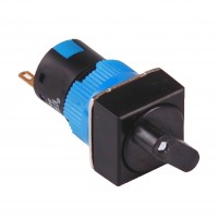 16mm Selector Switch, Square, 2NO2NC, 3 Position Maintain