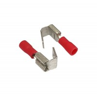 Insulated 2 Cable FASTON PIGGYBACK FEMALE Terminal, 0.5 - 1.5mm² Cable Size, 22-16 AWG, RED 20pcs