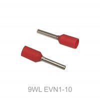 Insulated CORD PIN END Terminal Lug, Wire Ferrule, 10mm Pin Length, RED 100pcs