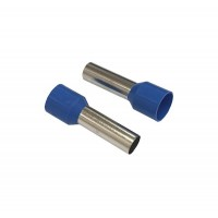 Insulated CORD PIN END Terminal Lug, Wire Ferrule, 18mm Pin Length, 8.8mm Pin Dia, BLUE 20pcs