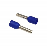 Insulated CORD PIN END Terminal Lug, Wire Ferrule, 10mm Pin Length, 4.4mm Dia, BLUE 100pcs