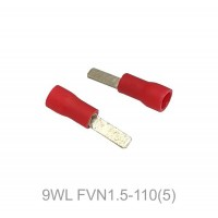 Insulated FASTON MALE Terminal Lug, 0.5 - 1.5mm² Cable Size, 22-16 AWG, RED 50pcs