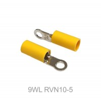 Insulated RING Terminal Lug, 6mm² to 10mm² Cable Size, M5 to M12 Screw Size, 8 AWG, YELLOW 20pcs