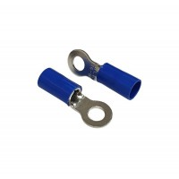 Insulated RING Terminal Lug, 16mm² Cable Size, M8 Screw Size, 6 AWG, BLUE 20pcs