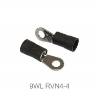 Insulated RING Terminal Lug, 2.5mm² to 4mm² Cable Size, M4 to M8 Screw Size, 14-12 AWG, BLACK 50pcs