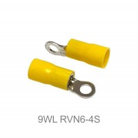 Insulated RING Terminal Lug, 4mm² to 6mm² Cable Size, M4 to M10 Screw Size, 12-10 AWG, YELLOW 20pcs