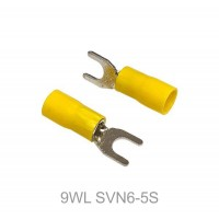Insulated FORK Terminal Lug, 4mm² to 6mm² Cable Size, M5 to M8 Screw Size, 12-10 AWG, YELLOW 20pcs