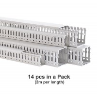 Wiring Duct or Cable Trunking, Open Slot, H80mm x W60mm x L 2M